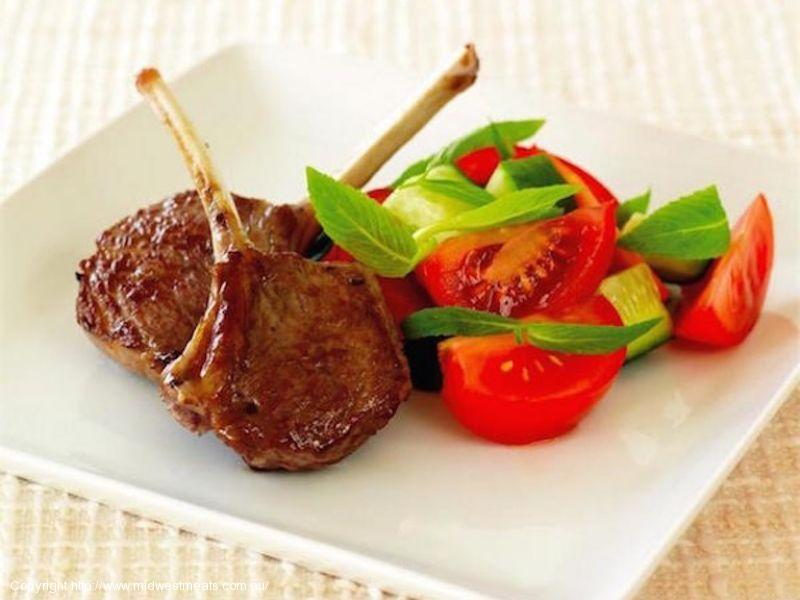 Minty Chargrilled Lamb Cutlets