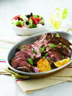 barbecued-lamb-shoulder-with-a-greek-salad